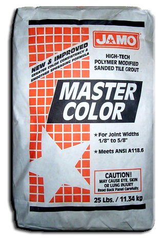Grout Sanded 25 Lb Terracotta. Part # JAM-4369