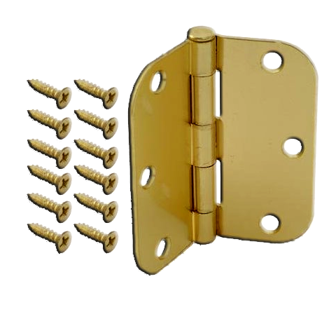 Hinges, Pain Bearing Hinges, 3.5x 3.5 x 2.2 x 1/4, Brass. Part # NA