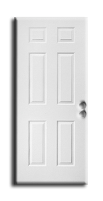 "Interior H/C 6 Panel Pre Hung Door 28"" x 96"" x 1-3/8"", Primed LH"