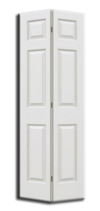 "6 Panel Primed H/C Bifold Door 30"" x 80""x 1-3/8"""