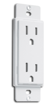 Duplex Receptacle Cover-Up, White. Part # AD20W.