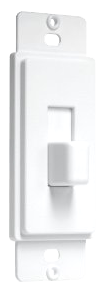 Toggle Switch Cover-Up, White. Part # AD70W.