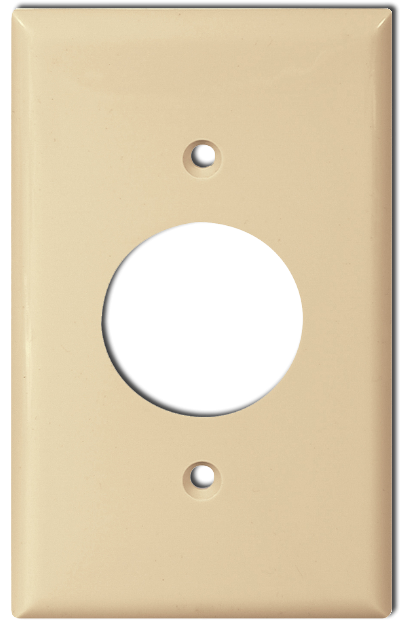 One Gang Single Receptacle Plate, Ivory . Part # CO-2131 I.