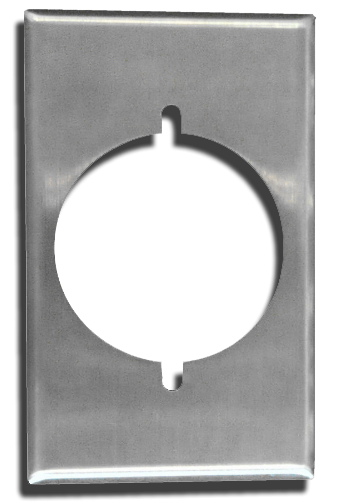 One Gang Wall Plate, Stainless Steel. Part # CO-93221.