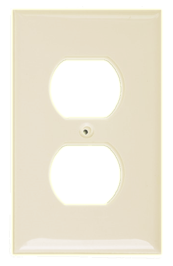 One Gang Duplex Receptacle, Ivory. Part # CP 3001 I.