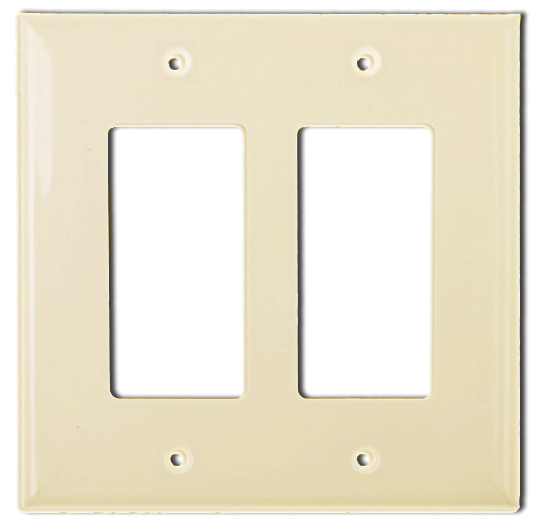 Wallplate Two Gang Switch, Ivory. Part # DP 2002 I.