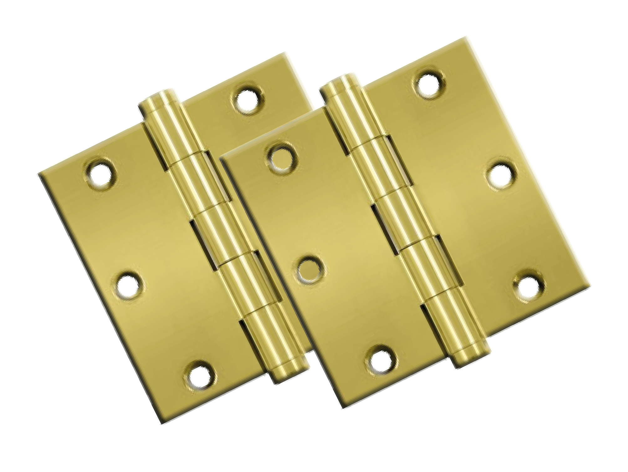 "Hinges: 3.5"" x  3.5"" x 5/8"" Radius, Polished Brass (pair). Part # DSB35-24"