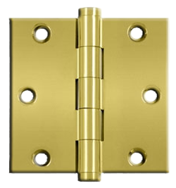 "Hinges: 4"" x 4' x 5/8"", Solid Brass Polished Brass. Part # DSB35R"