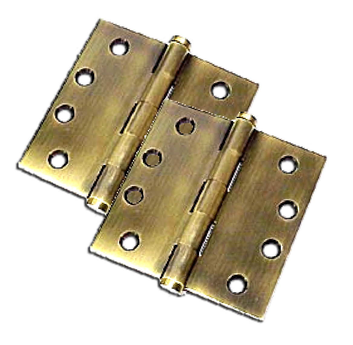 "Hinges: 4.5"" x 4.5"" x Square, Solid Brass (pair). Part # DSB45-US15"
