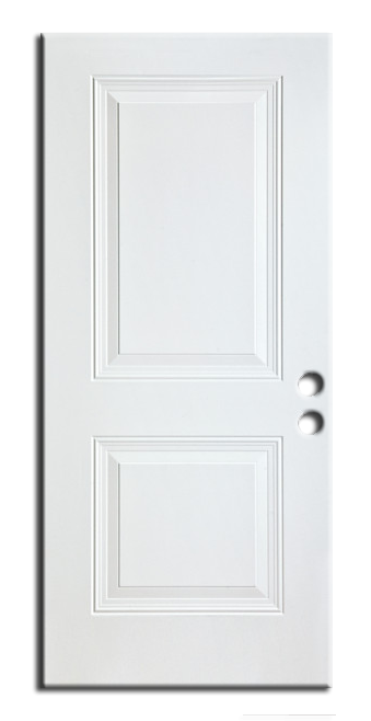 "Exterior 2-Panel Metal Pre Hung Door 32"" x 80"", Primed RH"