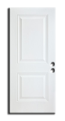 "Exterior 2-Panel Metal Slab Door 36"" x 80"", Primed"