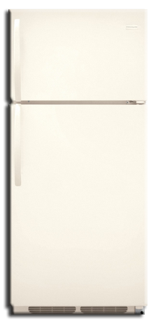 Refrigerator: Frigidaire Top Freezer, 17 cu ft L/H, Bisque. Part # FFTR1713LQ
