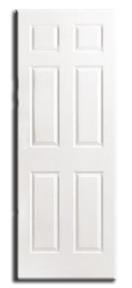 "Interior H/C 6 Panel Slab Door 30 x 80"" x 1-3/8"", Primed"