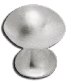 Knob: Small Football 26mm, Satin Nickel. Part # PN0394-SN-C