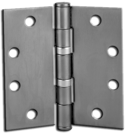 """Hinges: 4.5"""" x 4.5"""" Template Butt Hinge, 3/box, Chrome. Part # TBH30"""