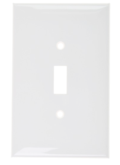 Wallplate One Gang Toggle Switch, White. Part # TP 1001 W.