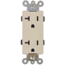 Double Receptacle Tamper 15 amp, Ivory. Part # DR 4000 I.