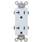 Double Receptacle 20 amp, White. Part # 20 DR 4000 W.