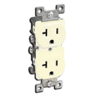 Double Receptacle 20 amp, Ivory. Part # 20TR 5000 I.