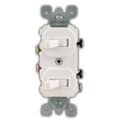 Single Pole Double Switch, White. Part # 2TS 4300 W.
