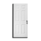"Interior H/C 6 Panel Pre Hung Door 30 x 80"" x 1-3/8"", Primed LH"