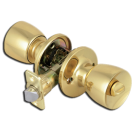 Privacy: Bell Knob Lock, Polished Brass. Part # 913815