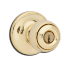 Entry Lock: Ball Knob, Polished Brass. Part # 94002-374