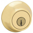 Deadbolt: Single Cylinder, Polished Brass. Part # 96609