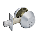 Deadbolt: Schlage, Double Cylinder, Maximum Security, 	Satin Nickel. Part # B362N-626