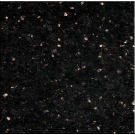 "Granite: Bar Top 108"" x 16"", Black Galaxy. Part # PD-BG-10816"