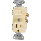 Single Pole Switch and Receptacle, Ivory. Part # CO-274 I.