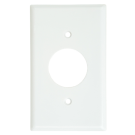 One Gang Single Receptacle Plate, White. Part # CO-2131 W.