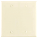 Wallplate Two Gang, Blank, Ivory. Part # C0-2137 I.