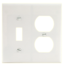 Two Gang Single Receptacle, White. Part # C0-2138 W.