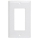 Wallplate One Gang Switch, White. Part # DP 2001 W.