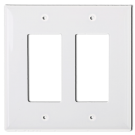 Wallplate Two Gang Switch, White . Part # DP 2002 W.