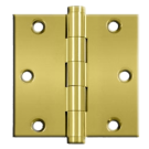 """Hinges: 4"""" x 4' x 5/8"""", Solid Brass Polished Brass. Part # DSB35R"""