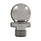 "Finial: Ball Tip 5/8"" H x 1/2"" D, Satin Nickel. Part # DSBT1"