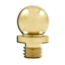 "Finial: Ball Tip 5/8"" H x 1/2"" D, Polished Brass. Part # DSBT3"