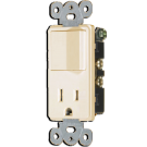 Single Pole Switch/Receptacle, Ivory. Part # EM68625 I.