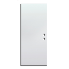 "Exterior Flush Metal Pre Hung Door 34"" x 80"" x 1-3/4"", White RH"