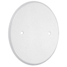 Round Blank Wall Plate, White Plastic. Part # LPB3325.