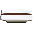 Knob: Wood Grain (Small), Matte Chrome. Part # P01239-203-C