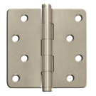 "Hinges: 4"" x 4"" x 2.3"" x 1/4"" Radius, Plain Bearing Hinges, Satin Nickel. Part # n/a"