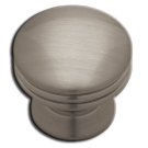 Knob: Wide Base 30mm, Brushed Nickel Plated. Part # PN0830-BNP-C