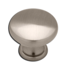 "Knob: Hollow Diecast 1-1/4"", Satin Nickel. Part # PN2001-SN-C"