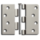 "Hinges: Steel, 4"" x 4"" Square, Satin Nickel (pair). Part # S44U15"