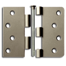 "Hinges: 4"" x 4"" x 2.3"" x 5/8"" Radius Square, Antique Nickel. Part # S4404-US15A"