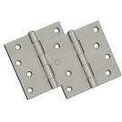 "Hinges: 4"" x 4"" x 2.3"", Satin Nickel (pair). Part # S44U15-R"