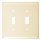 Wallplate Two Gang Toggle Switch, Ivory. Part # TP 1002 I.